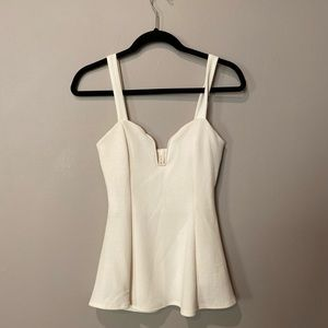 White Dress up tank